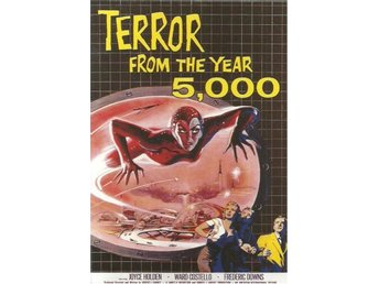 CLASSIC SCI-FI & HORROR POSTERCARD -TERROR FROM THE YEAR 5000 ( SAMLARKORT )