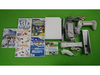 Nintendo Wii Basenhet med 6 spel + motion plus wii sports resort m.m