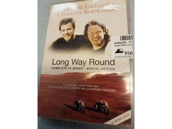 Long Way Round dvd/3 med Ewan McGregor & Charley Boorman