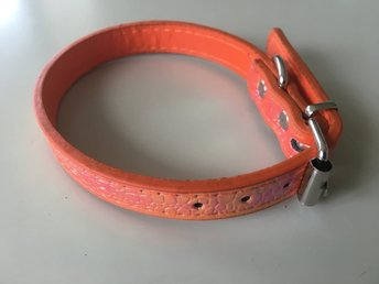 Orange Hundhalsband 36 cm