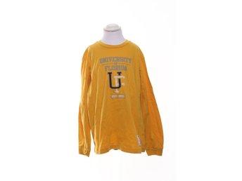 Champion, T-shirt, Långärmad, Strl: 150/155, Senapsgul/Flerfärgad - Stockholm - Champion, T-shirt, Modell: Långärmad, Strl: 150/155, Färg: Senapsgul, FlerfärgadVaran är i normalt begagnat skick. Vissa tecken på användning finns (Lite nopprig) Om hur vi bedömmer skick: Varan säljs i befintligt skick och endast det - Stockholm