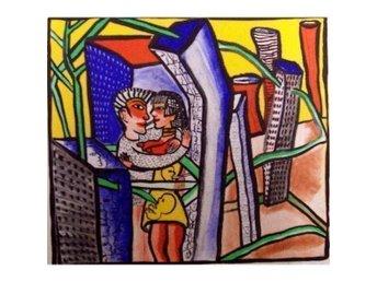 """Javascript är inaktiverat. - Hedehusene - Danmark - Farvelitografi af Ulrica Hydman Vallien med farvelitografiet """"Kærlighedens labyrint I"""" - bladmål 30,5x34 - originalt signeret Ulrica H V og nummereret i bly. Hun er en af Sveriges mest kendte kunstnere og har opnået stor internat - Hedehusene - Danmark"""