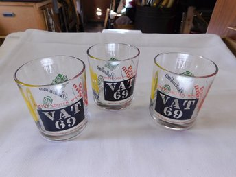 VAT 69 Retro Whiskey Glas ( 3 ) VAT 69 Glas