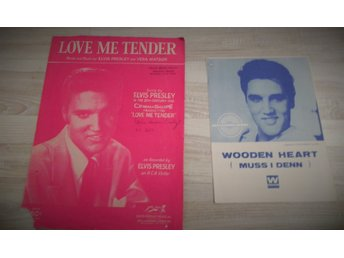 Elvis Presley 2 nothäften. Wooden heart och Love me tender..