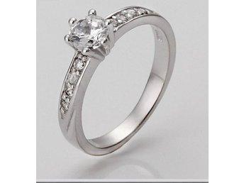 Ring ÄKTA SILVER-ZIRCON kristall stl 17,5 mm - Landvetter - Ring ÄKTA SILVER-ZIRCON kristall stl 17,5 mm - Landvetter