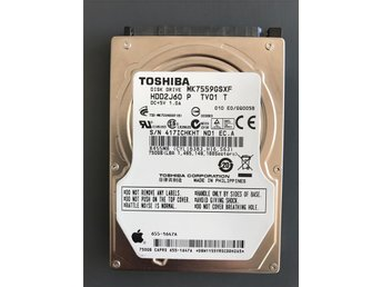 "Toshiba HDD2J60 MK7559GSXF 750GB MacBook 8MB SATA 3 2.5"" 5400 Laptop Hard Drive"