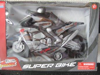Team Power Superbike Stor Motorcykel MC 30 cm Grå svart - Uddevalla - Team Power Superbike Stor Motorcykel MC 30 cm Grå svart - Uddevalla