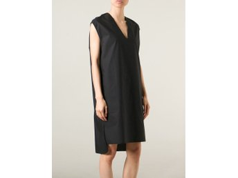 Acne Studios Art Tech Pop Dress, svart, strl 34 men stor i modellen, bomull