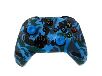 Camouflage Silicone Gamepad Cover for XBox One X S Blue Fri Frakt Ny