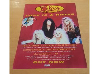 VIXEN LOVE IS A KILLER 1990 POSTER