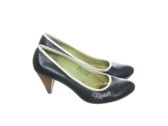 Replay Footwear, Pumps, Strl: 38, Svart/Vit, Skinnimitation