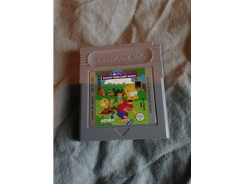 Simpsons escape from camp deadly Gameboy spel