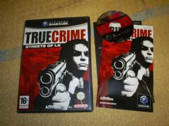 TRUE CRIME,STREETS OF LA,KOMPLETT,GAMECUBE SPEL I BRA SKICK