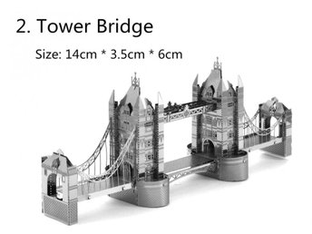Hobby 3D Metal Pussel Tower Bridge London Monument Fri Frakt Helt Nytt