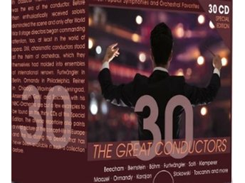 Javascript är inaktiverat. - Nossebro - 30 world-class conductors at the top of their form. The best-sellers from the concert-halls. Top-orchestras from Europe and the USA.LÅTAR:1. Cd 1 Ernest Ansermet2. Cd 2 Sir John Barbirolli3. Cd 3 Sir Thomas Beecham4. Cd 4 Leonard Bernstein5. C - Nossebro