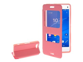 Sony Xperia Z3 Compact Fodral med F?nster Rosa