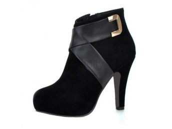 Dam Boots Heel Shoes Sexy Snow Warm P6869 EUR Black 42