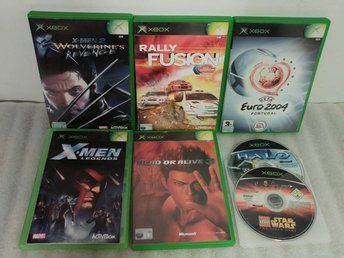 7st spel till Xbox | HALO + X-Men + Dead or Alive + Lego Star Wars | PAL