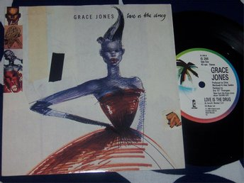 "GRACE JONES - LOVE IS THE DRUG 7"" 1980 UK"