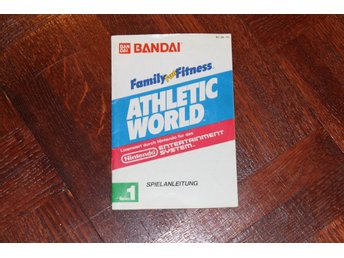 Family Fitness Athletic World manual till Nintendo 8-bitars NES!