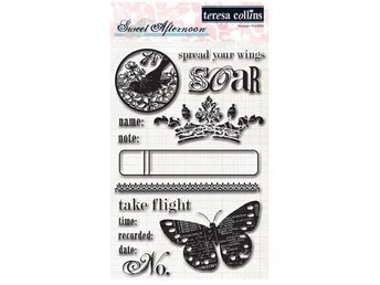 Teresa Collins Clear Stamps, SWEET AFTERNOON