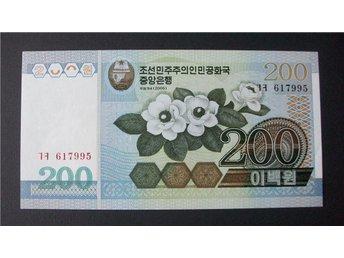 (NK-10) NORD KOREA 200 WON 2005 UNC - Luleå - (NK-10) NORD KOREA 200 WON 2005 UNC - Luleå
