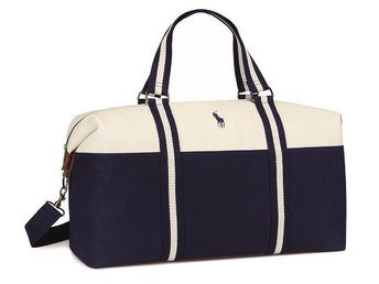 Ralph Lauren Polo Duffle bag Blue/White original ny oanvänd