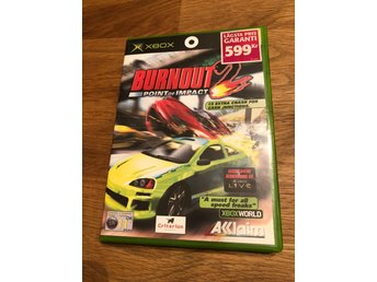 Burnout 2 - Point of impact - Xbox - Svensksålt och komplett