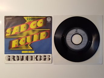 "Groundhogs - Sad go round 7"" vinylsingel RARE BLUES PROGG ROCK VERTIGO FINT EX"