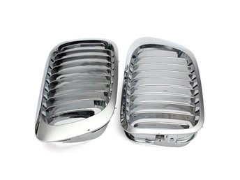 Silver Front Kidney Grille Grills For BMW E46 3 Series 2 ...