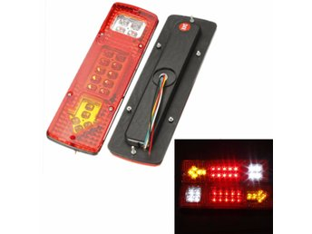 2X 12V 19 LED Car Truck Rear Light Indicator Lamp Yellow