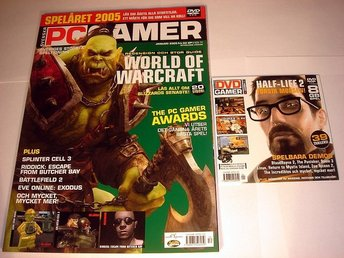 PC GAMER  Nr97 HELT NY m DVD  JAN 2005  WORLD OF WARCRAFT