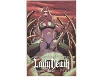 Lady Death # 2 Graveyard Cover NM Ny Import REA!