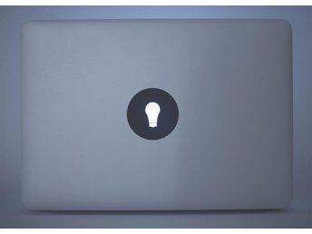"""Glödlampa dekal / klistermärke för Macbook Air & Pro (13, 15, 17"""") - Sollentuna - Glödlampa dekal / klistermärke för Macbook Air & Pro (13, 15, 17"""") - Sollentuna"""