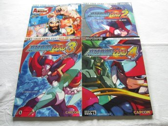 Samling av 4 st MEGA MAN ZERO Strategiguider guider böcker MegaMan GBA DS