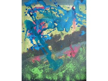 Original abstract hand-made acrylic painting 40.6 x 50.8 cm