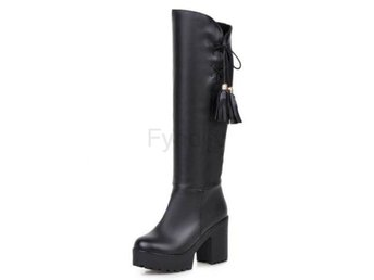 Dam Boots Botas Footwear Heels Shoes Size 34-46 Black 34