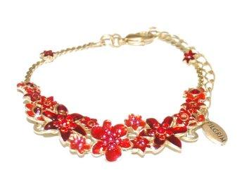 """Armband """"PILGRIM"""" rött och guldfärg - Lidköping - Armband """"PILGRIM"""" rött och guldfärg - Lidköping"""