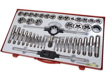 Tap & Die Set 45pc Metric Large Tapping Sizes M6 - M24 in Steel Case