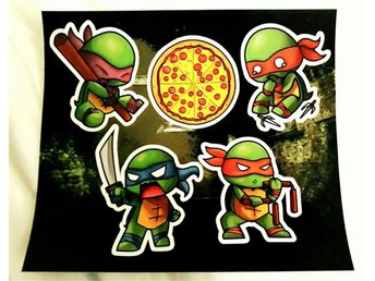 Teenage Mutant Ninja Turtles - Klistermärken - 1Up Box Exclusive