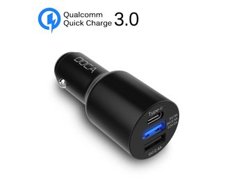 USB billaddare - USB-C och QC3.0