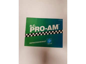 R.C. Pro AM - Manual NES NINTENDO - USA