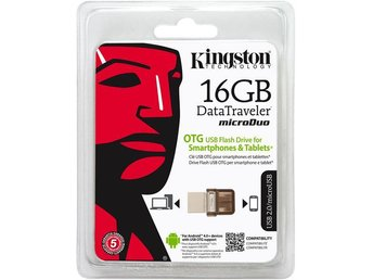 Kingston Data Traveler MicroDuo, USB 2.0 minne 16GB