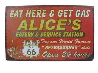 REA Tavla Route 66 Eat Here & Get Gas Alice Service Station - Kivik - REA Tavla Route 66 Eat Here & Get Gas Alice Service Station - Kivik