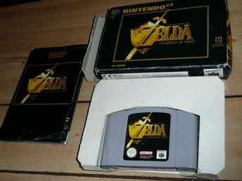 Nintendo 64 Zelda Ocarina of time komplett med box,spel och manual