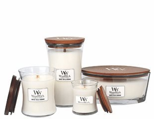 WoodWick Medium- White tea & Jasmine (120x98 mm)
