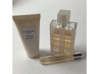 Burberry, Eau De Toilette, body lotion, parfym + liten flaska, Beige