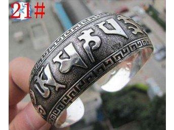 FRI FRAKT!!! ARMBAND Tibetan silver med graverade kinesiska tecken - Nyvång - FRI FRAKT!!! ARMBAND Tibetan silver med graverade kinesiska tecken - Nyvång