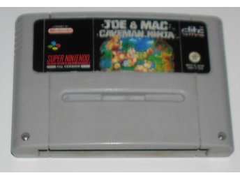Super Nintendo/SNES: Joe & Mac (SCN/svensksålt)