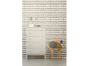 Ferm Living Tapet - Half Moon Black - Svart